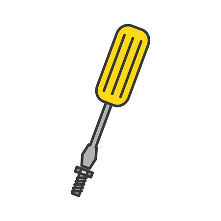 screwdriver tool isolated icon vector illustration design Stock Vector - 84595031