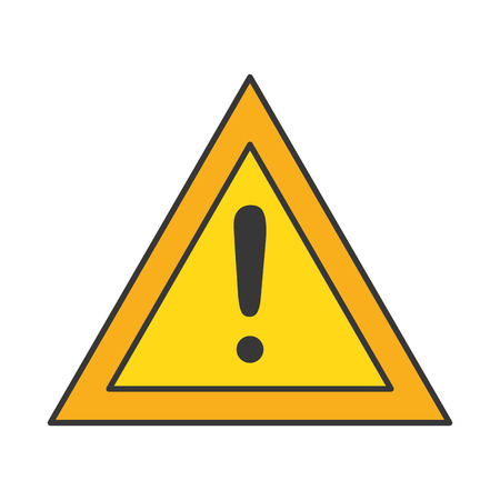 경고 기호 격리 된 아이콘 벡터 일러스트 레이 션 디자인