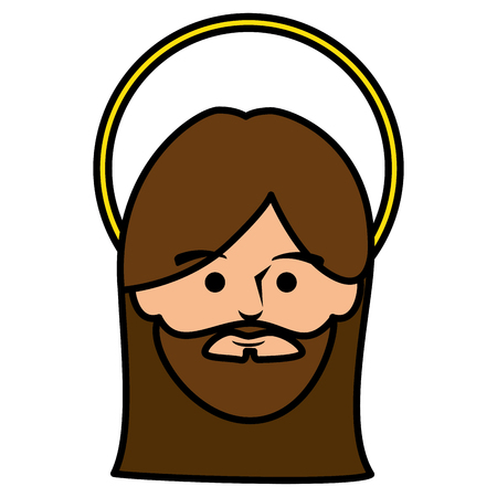 jesuscrist avatar character icon vector illustration design