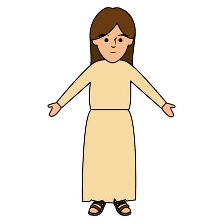 Shepherd of bethlehem character vector illustration design Illustration
