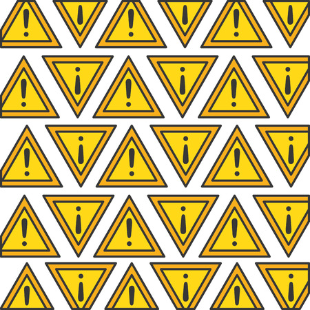 alert sign pattern background vector illustration design Ilustração