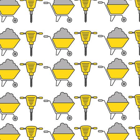 Disque hydraulique et brouette conception illustration vectorielle Banque d'images - 84595617