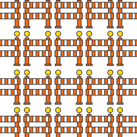 bouw barrière patroon achtergrond vector illustratie ontwerp