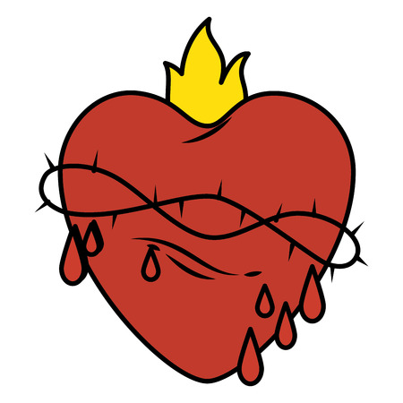 聖なるイエスの心臓ベクトル イラスト デザイン 写真素材 - 84595624