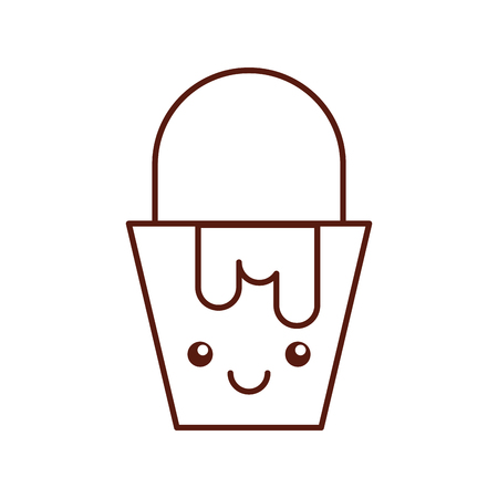 paint pot kawaii character vector illustration design Ilustração