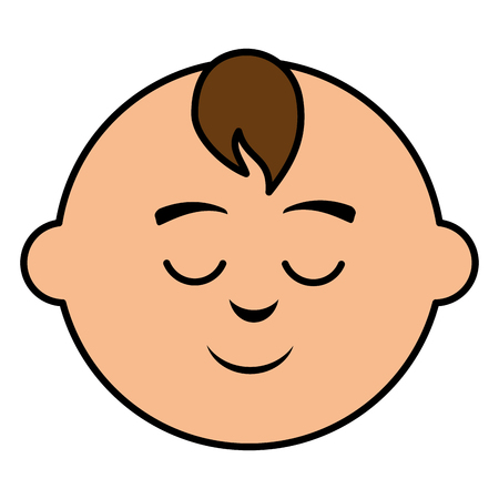 cute baby head icon vector illustration design Ilustrace