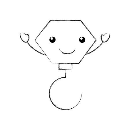 Construction crochet crochet kawaii character vector illustration design Banque d'images - 84595656