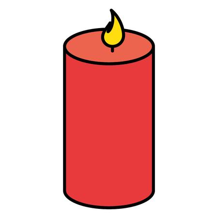 촛불 스파 절연 아이콘 벡터 일러스트 디자인 일러스트