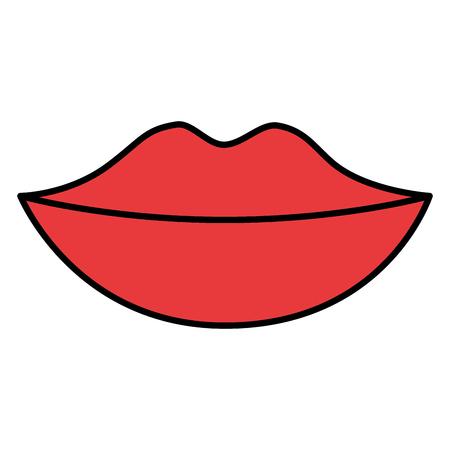female lips isolated icon vector illustration design 向量圖像