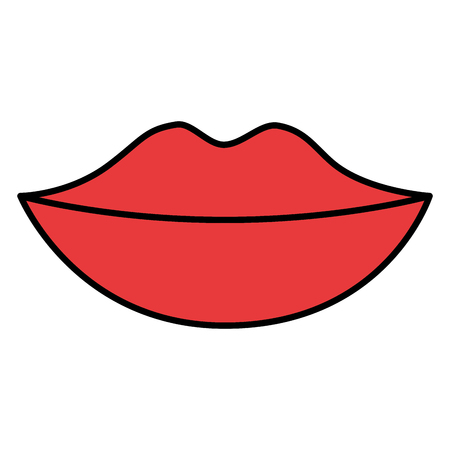 female lips isolated icon vector illustration design Illustration