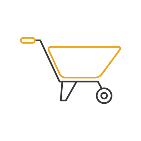 hauling: wheelbarrow construction isolated icon vector illustration design