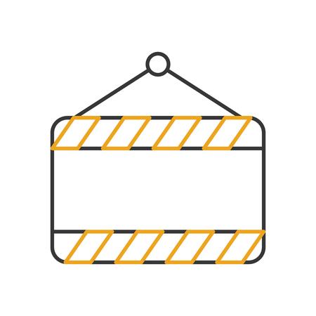 construction banner hanging icon vector illustration design