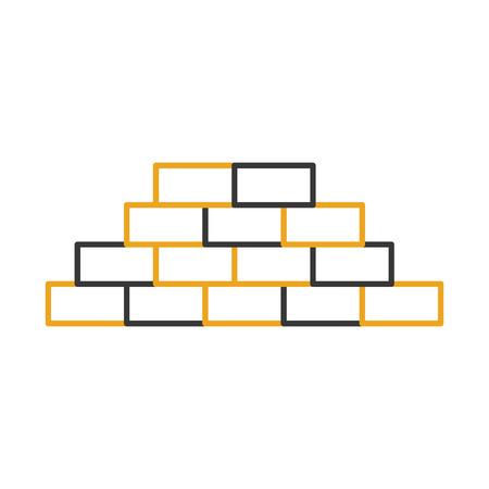 bricks wall isolated icon vector illustration design