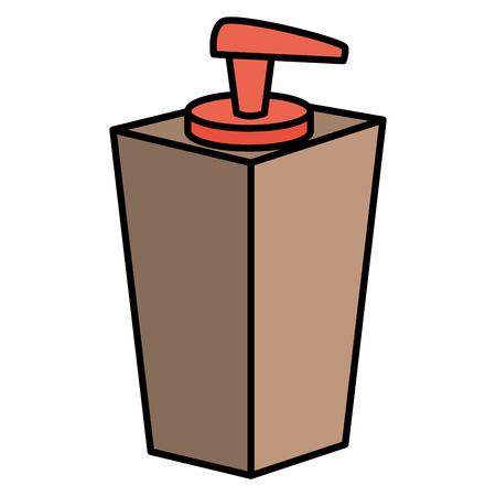 soap bottle dispenser icon vector illustration design Ilustracja