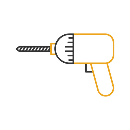 drill construction isolated icon vector illustration design