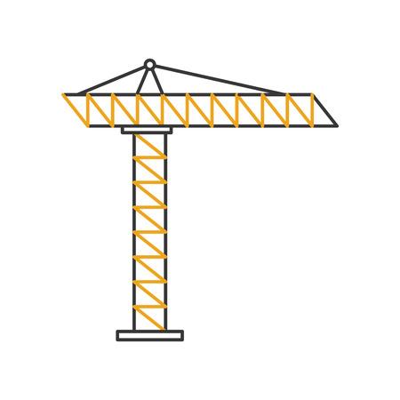 Grue de construction icone isolé conception d'illustration vectorielle Banque d'images - 84596562