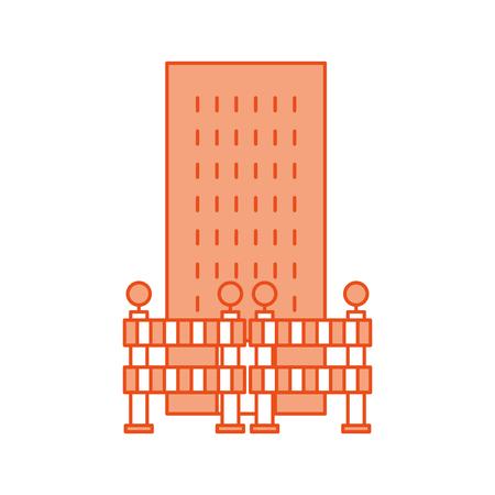建築障壁構造ベクトル イラスト デザイン  イラスト・ベクター素材