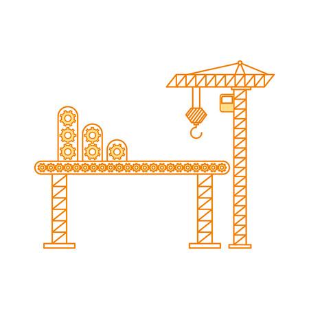 Grue de grue avec le dessin de transport illustration vectorielle Banque d'images - 84596666