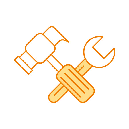 hammer and wrench icon vector illustration design Ilustracja