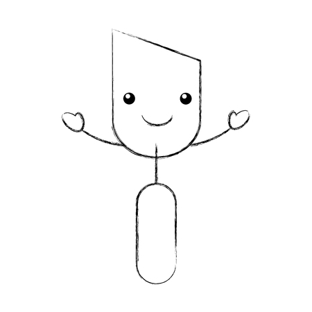 spatula tool kawaii character vector illustration design Banco de Imagens - 84596700