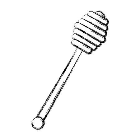 꿀 숟가락 격리 된 아이콘 벡터 일러스트 레이 션 디자인