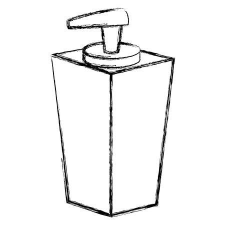 zeepfles dispenser pictogram vector illustratie ontwerp