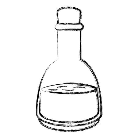 オイル ボトル スパ製品ベクトル イラスト デザイン