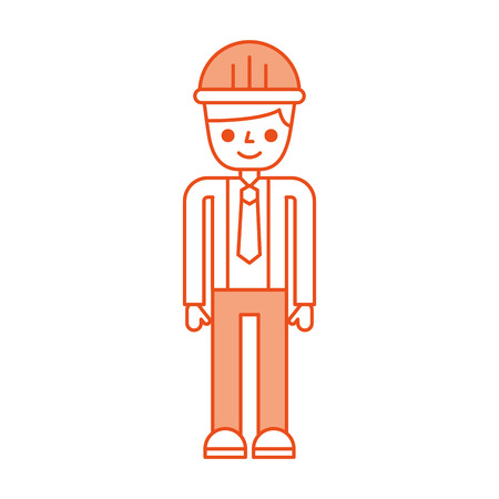 construction engineer avatar character vector illustration design Ilustrace