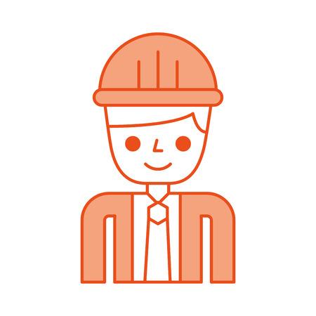 construction engineer avatar character vector illustration design Illustration