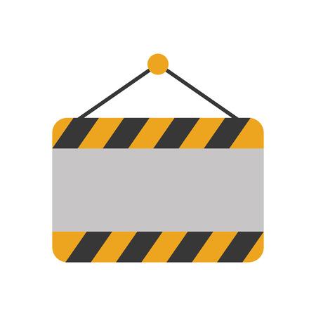 construction banner hanging icon vector illustration design Imagens - 84596752