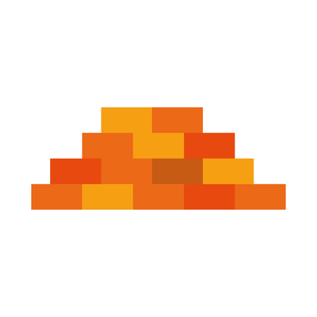 bricks wall isolated icon vector illustration design