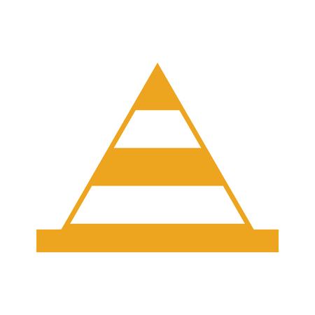Kegelconstructie geïsoleerd pictogram vector illustratie ontwerp Stockfoto - 84596768