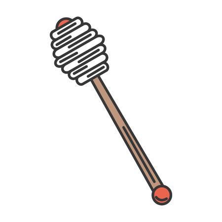 honey spoon isolated icon vector illustration design Illustration
