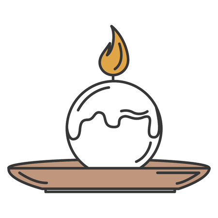 candle spa with dish vector illustration design Illustration