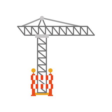 Grue de construction isolé icône vecteur illustration de conception Banque d'images - 84596796