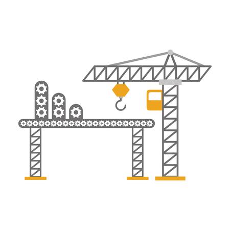 Grue de construction avec transport bande vector illustration design Banque d'images - 84596801