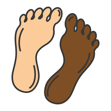 Foot plants isolated icon vector illustration design 向量圖像