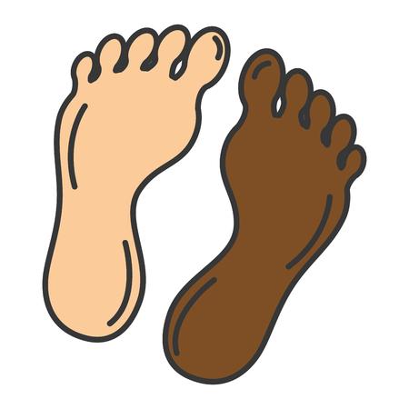Foot plants isolated icon vector illustration design Ilustracja