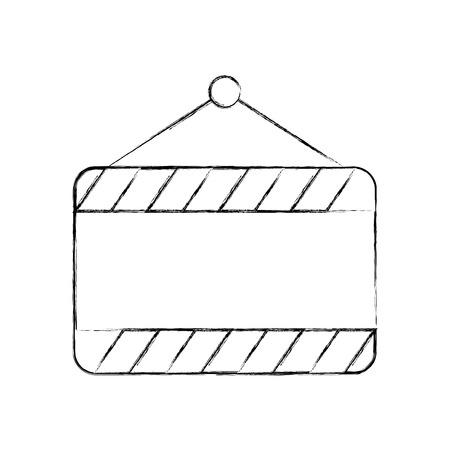 Construction bannière suspendus icône vecteur illustration de conception Banque d'images - 84596816