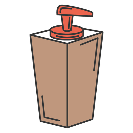 soap bottle dispenser icon vector illustration design Illusztráció