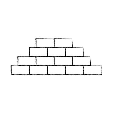 bakstenen muur geïsoleerd pictogram vector illustratieontwerp