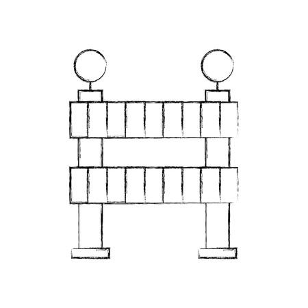 constructie barrière geïsoleerd pictogram vector illustratie ontwerp