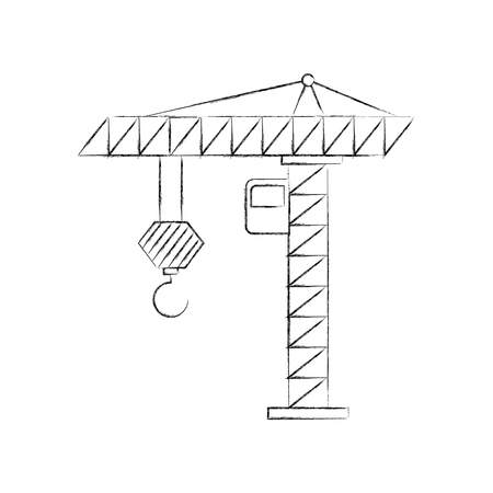 Grue de construction isolé icône vecteur illustration de conception Banque d'images - 84596843