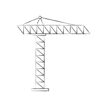 建設用クレーンのアイコン ベクトル イラスト デザインを分離しました。  イラスト・ベクター素材