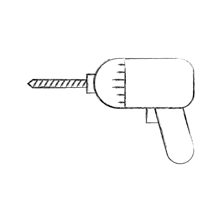 drill construction isolated icon vector illustration design