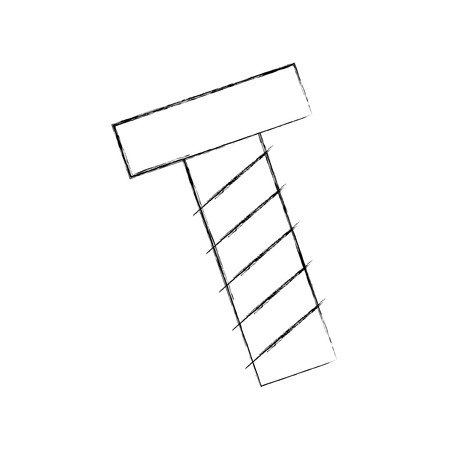 나사 도구 격리 아이콘 벡터 일러스트 디자인