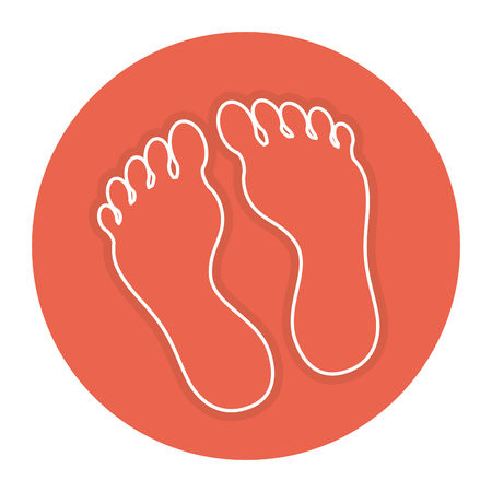 Foot plants isolated icon vector illustration design Stock Vector - 84596862