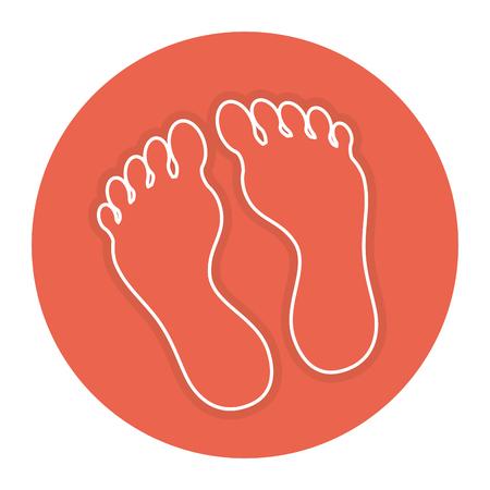 Plantas de pie aislado icono de diseño de ilustración vectorial Foto de archivo - 84596862