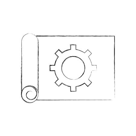 ギア ベクトル イラスト デザインの平面の建築  イラスト・ベクター素材