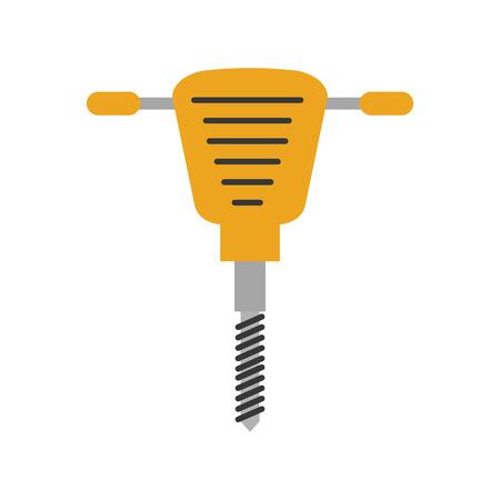 Marteau hydraulique icône isolée conception d'illustration vectorielle Banque d'images - 84596872